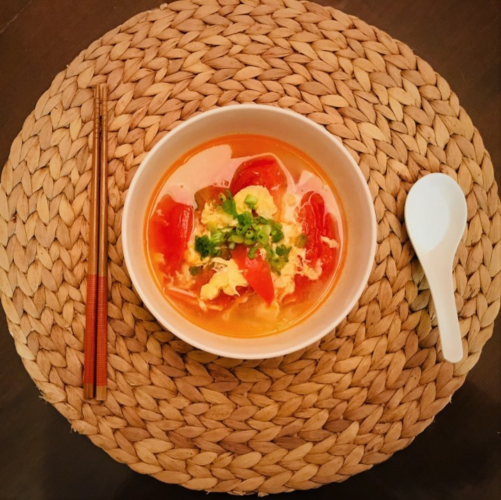 Tomato Egg Soup with PickledMustard