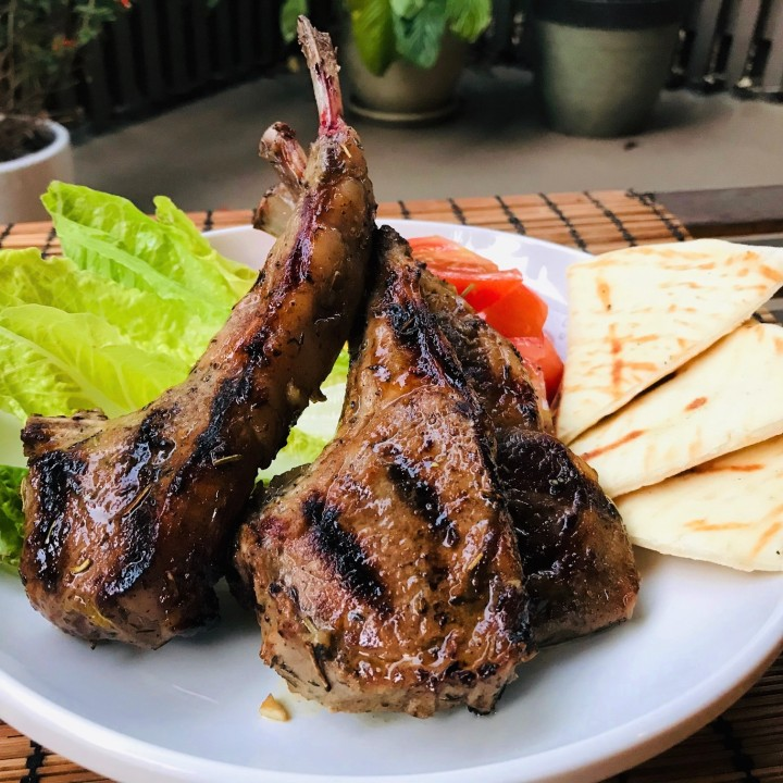 Grilled Honey Lamb Chops