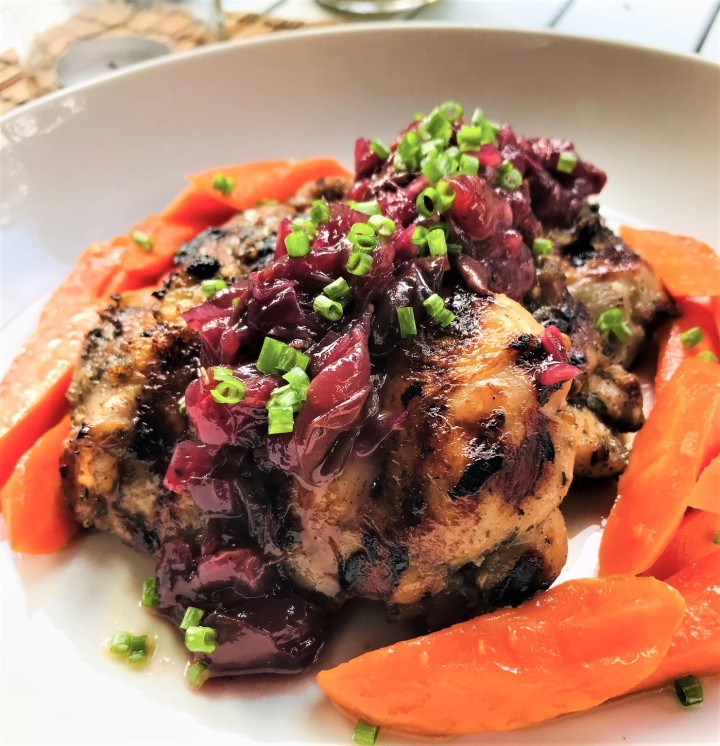 BBQ Chicken with Grape Chutney