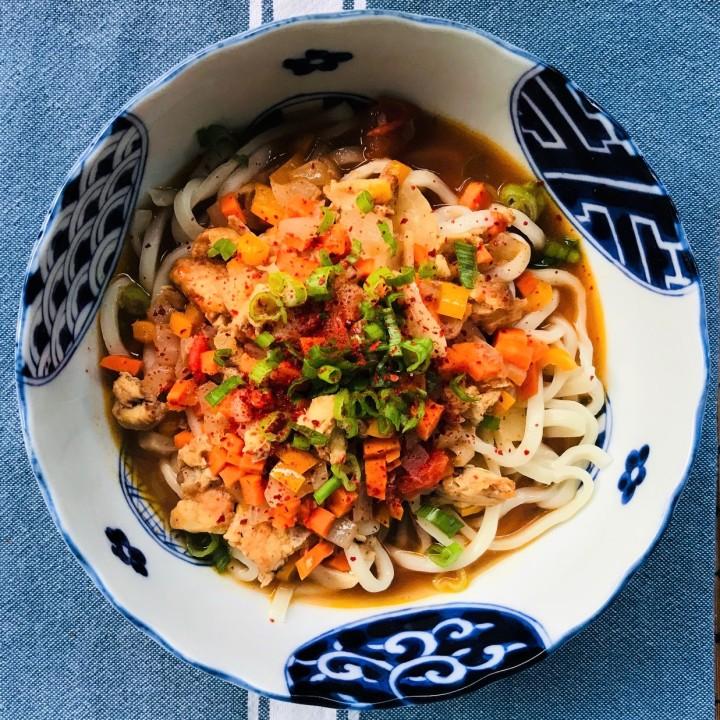 Uyghur Lagman Chicken NoodleSoup