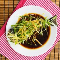 Steamed Black Cod with Ginger and Scallions